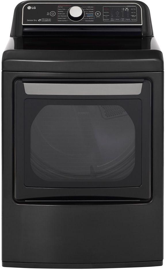 LG 7.3 Cu. Ft. Black Steel Front Load Gas Dryer-DLGX7901BE