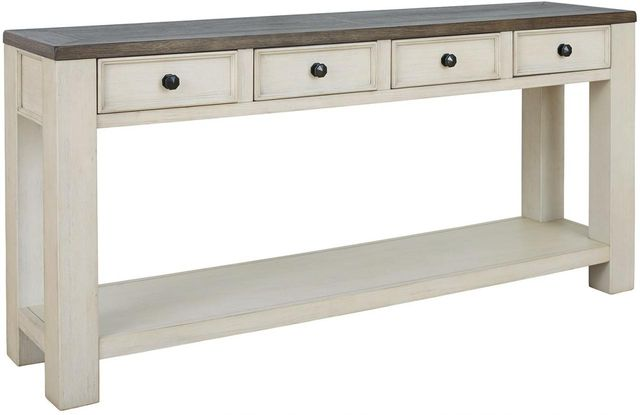 Signature Design by Ashley® Bolanburg Brown/White Sofa Table-T751-4