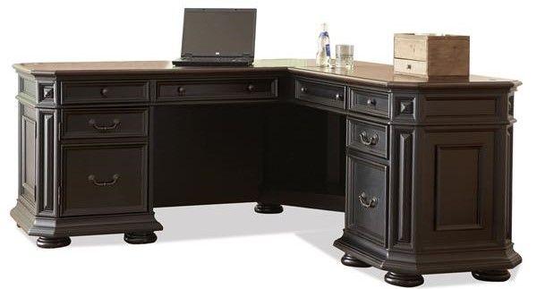 Riverside Furniture Allegro L Desk And Return-44728