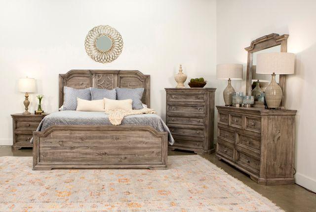 Vintage Furniture Westgate 4 Piece Granite King Bedroom Set Mic Wg Khbgrt Fb Rs Dr Mir Ns Miskelly Furniture