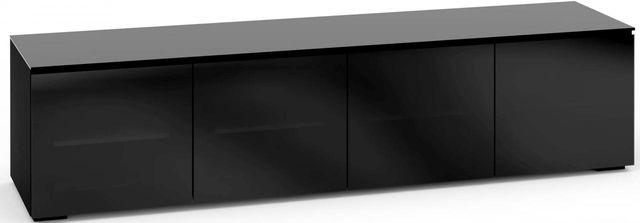 Salamander Designs® Oslo 247 AV Cabinet-Black Glass-C/OS247/BG