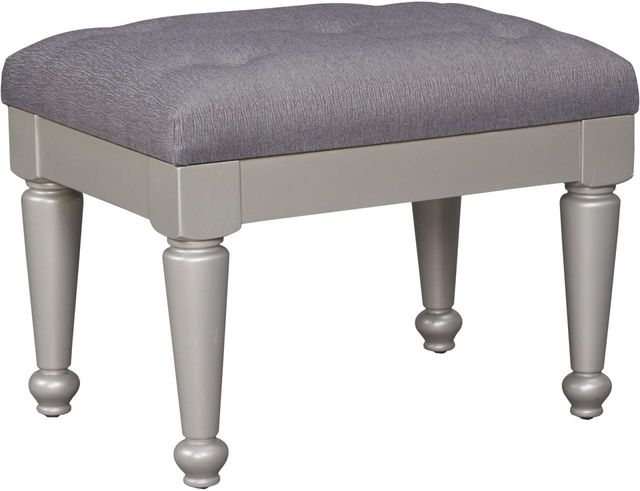 Signature Design by Ashley® Coralayne Silver Upholstered Stool-B650-01