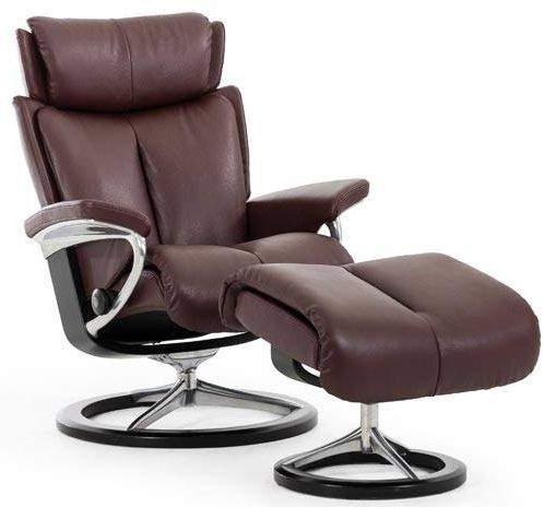 Stressless® by Ekornes® Magic Small Signature Base Chair and Ottoman-1273315