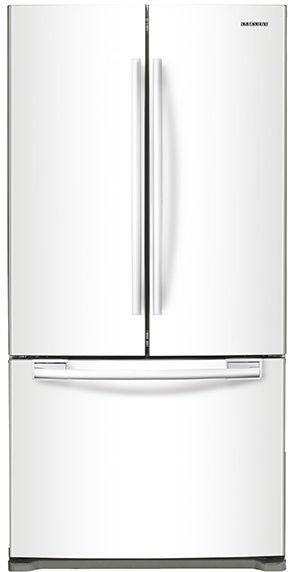 Samsung 18 Cu. Ft. Counter Depth French Door Refrigerator-White-RF18HFENBWW