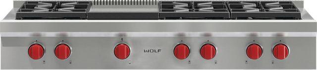 "Wolf® 48"" Pro Style Gas Rangetop-SRT486G"