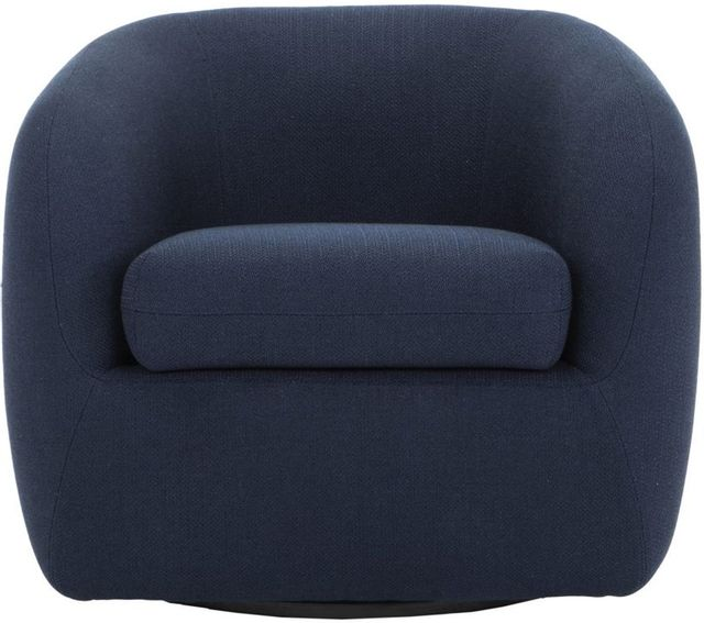 Moe's Home Collections Maurice Midnight Blue Swivel Chair-JM-1003-46