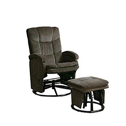 Coaster® 2 Piece Chocolate Swivel Glider Recliner Set-600159