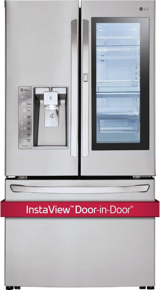 LG 23.5 Cu. Ft. Stainless Steel Counter Depth French Door Refrigerator-LFXC24796S