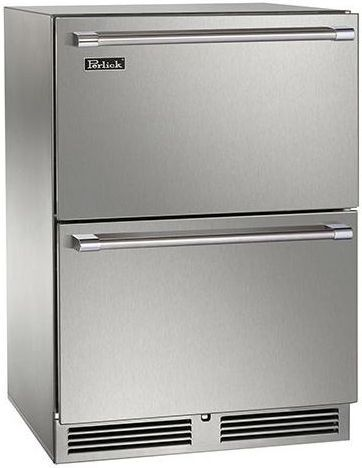 Perlick® Signature Series 5.2 Cu. Ft. Drawer Freezer-Stainless Steel-HP24FS-3-5