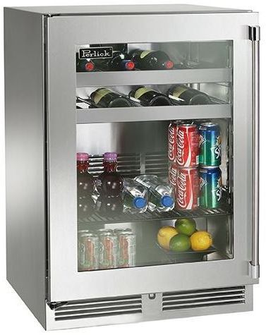 Perlick® Signature Series 5.2 Cu. Ft. Beverage Center-Stainless Steel-HP24BS-3-3L