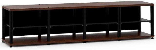 Salamander Designs® Synergy Quad 20 AV Cabinet-Dark Walnut/Black-SQ20W/B