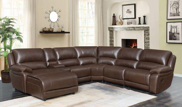 Coaster® Mackenzie 6-Piece Chestnut Reclining Sectional-600357