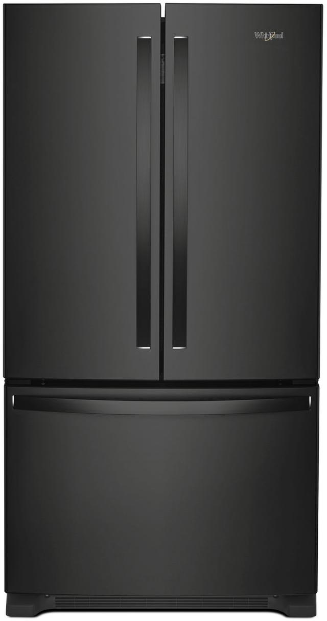 Whirlpool® 25 Cu. Ft. Wide French Door Refrigerator-Black-WRF535SWHB