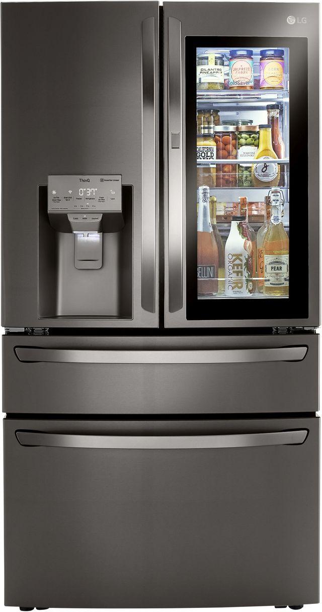 LG 22.5 Cu. Ft. PrintProof™ Black Stainless Steel Smart Wi-Fi Enabled Counter Depth French Door Refrigerator-LRMVC2306D