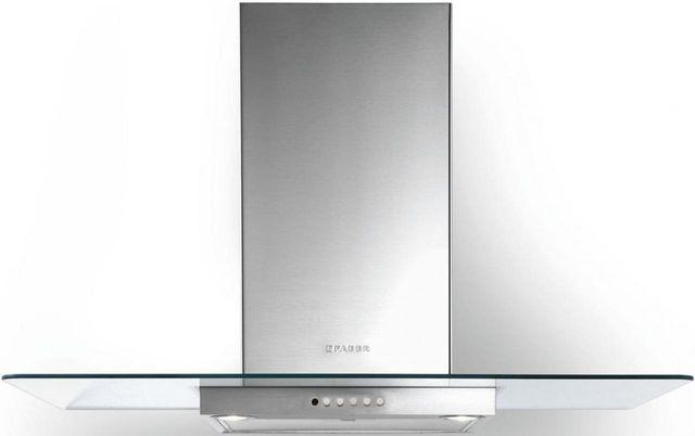 "Faber Hoods Glassy 30"" Wall Glass Range Hood-Stainless Steel-GLAS30SS600-B"