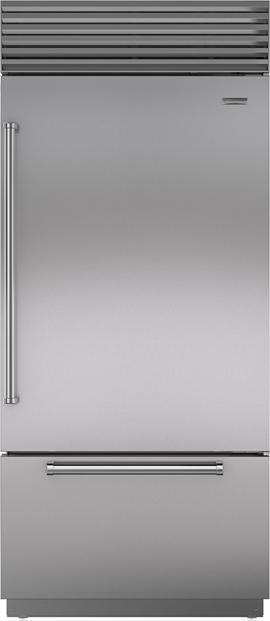 Sub-Zero® 21.7 cu. ft.Stainless Steel Classic Over-and-Under Refrigerator/Freezer-BI-36U/S/PH-RH