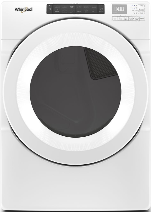 Whirlpool® 7.4 Cu. Ft. White Front Load Gas Dryer-WGD5620HW