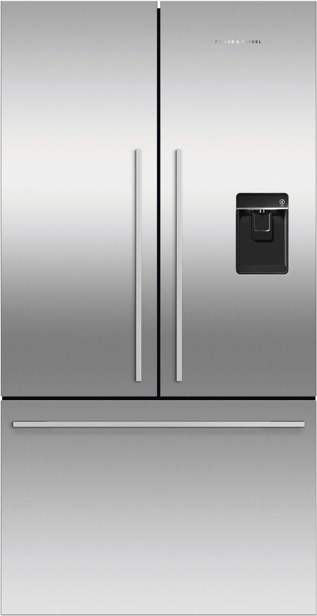 Réfrigérateur à portes françaises à profondeur de comptoir de 36 po Fisher Paykel® de 20,1 pi³ - Acier inoxydable-RF201ADUSX5 N