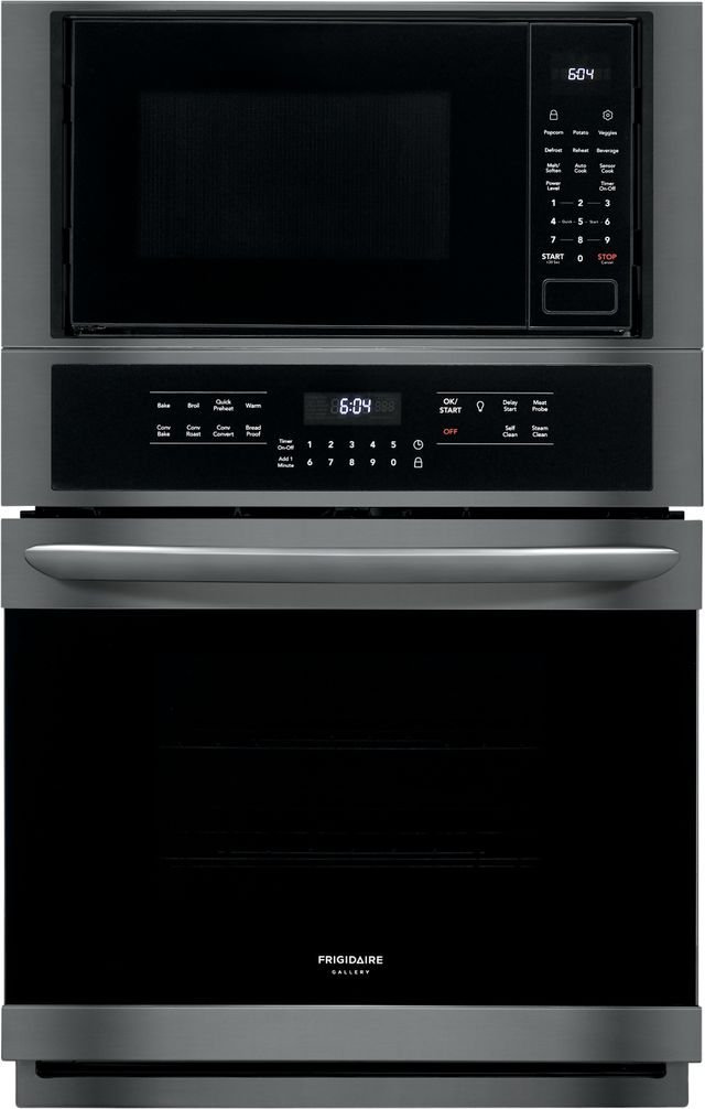 """Frigidaire Gallery® 27"""" Black Stainless Steel Electric Oven/Micro Combo Built In-FGMC2766UD"""