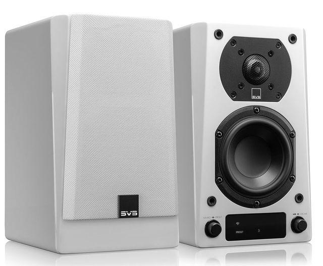 SVS Piano Gloss White Prime Wireless Speaker System-Prime Wireless Speaker Pair - White Gloss