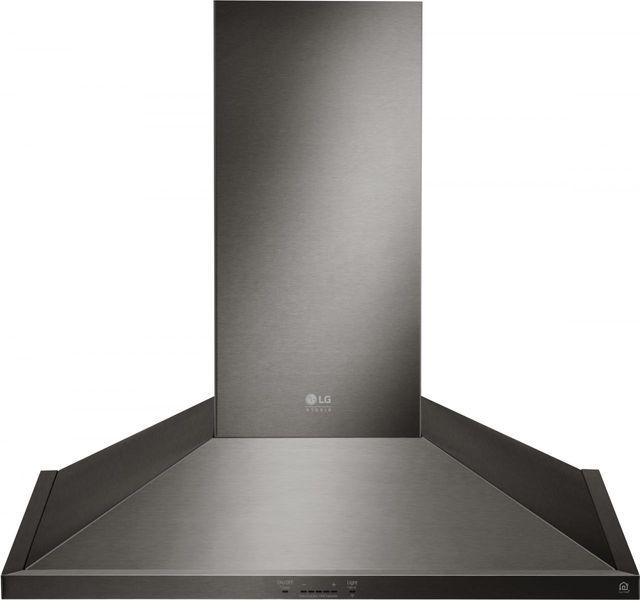 Hotte de cuisinière murale LG Studio® de 30 po - Acier inoxydable noir-LSHD3089BD