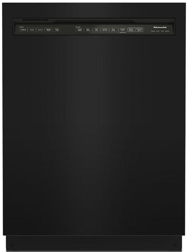 """KitchenAid® 24"""" Black Built In Dishwasher-KDFE204KBL"""
