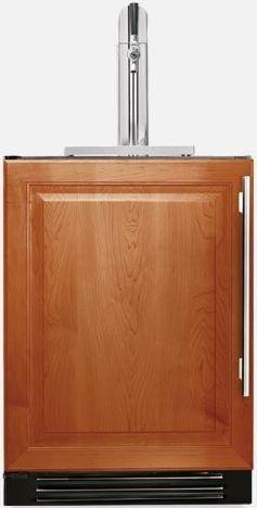 "True® 24"" Single Tap Beverage Dispenser-Overlay Panel-TUR-24BD-L-OP-B"