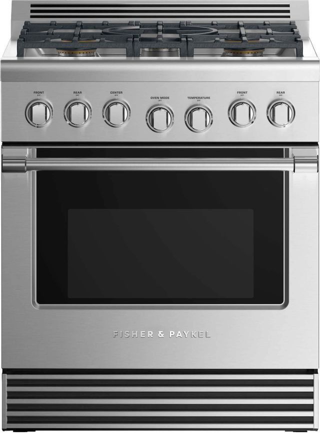 """Fisher & Paykel 30"""" Pro Style Gas Range-Stainless Steel-RGV2-305L N"""