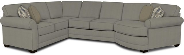 England Furniture Co. Brantley 4 Piece Culpepper Cement/Alvarado Mineral/Acceleration Smoke Sectional-5630-28-22-43-95+8612+8487+8601