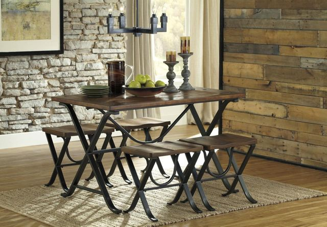 Signature Design by Ashley® Freimore Medium Brown Dining Room Table Set-D311-225
