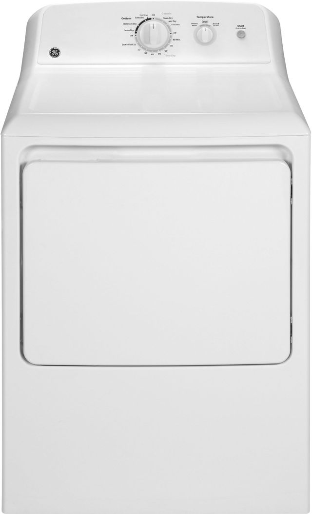 GE® 6.2 Cu. Ft. White Front Load Electric Dryer-GTX22EASKWW