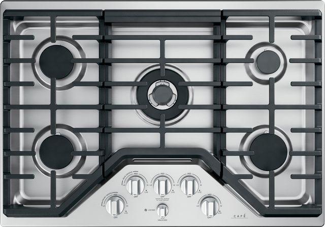 Table de cuisson au gaz Cafe™ de 30 po - Acier inoxydable-CGP95302MS1