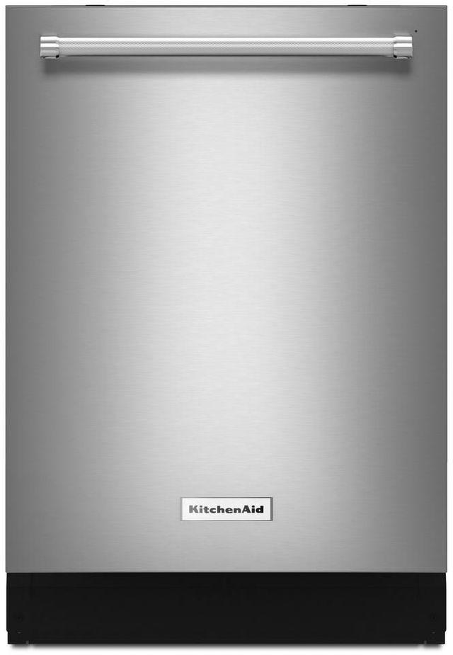 "KitchenAid® 24"" Stainless Steel with PrintShield™ Finish Built In Dishwasher-KDTE234GPS"