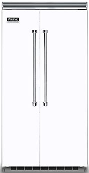 Viking® Professional 5 Series 25.32 Cu. Ft. Built-In Side By Side Refrigerator-White-VCSB5423WH