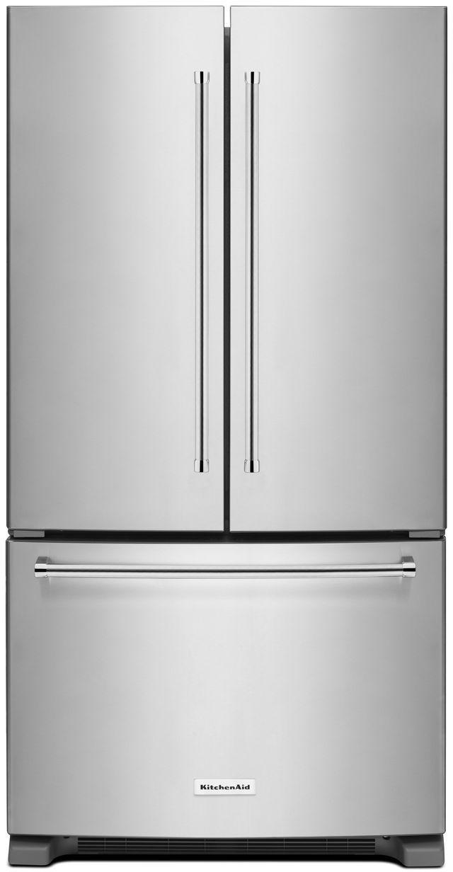 KitchenAid® 20 Cu. Ft. Stainless Steel Counter Depth French Door Refrigerator-KRFC300ESS