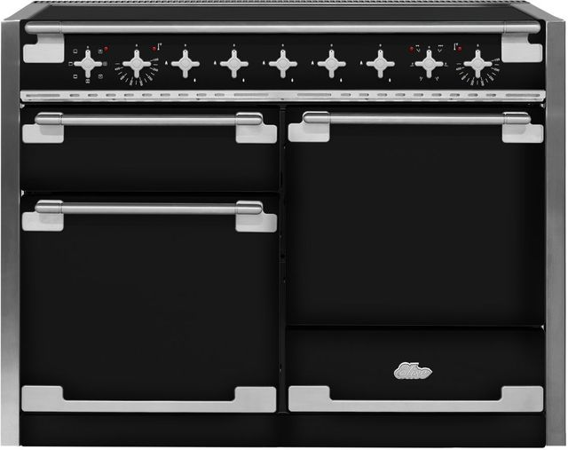 """AGA Elise 48"""" Gloss Black Electric Induction Range-AEL48IN-BLK"""