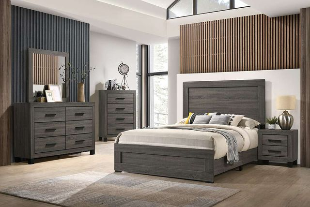 Lifestyle 8321a Grey 4 Piece King Panel Bedroom Set C8321a Kc4 040 050 020 Miskelly Furniture
