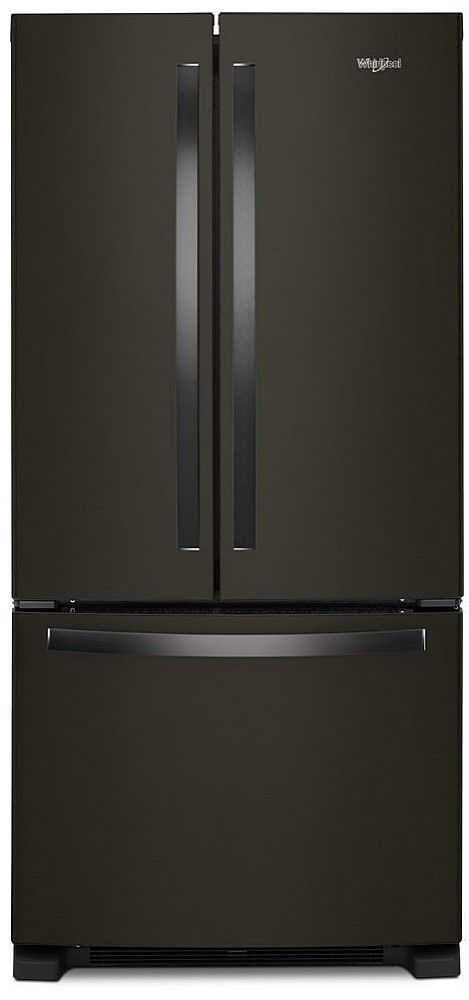Whirlpool® 22 Cu. Ft. Black Stainless French Door Refrigerator-WRF532SNHV