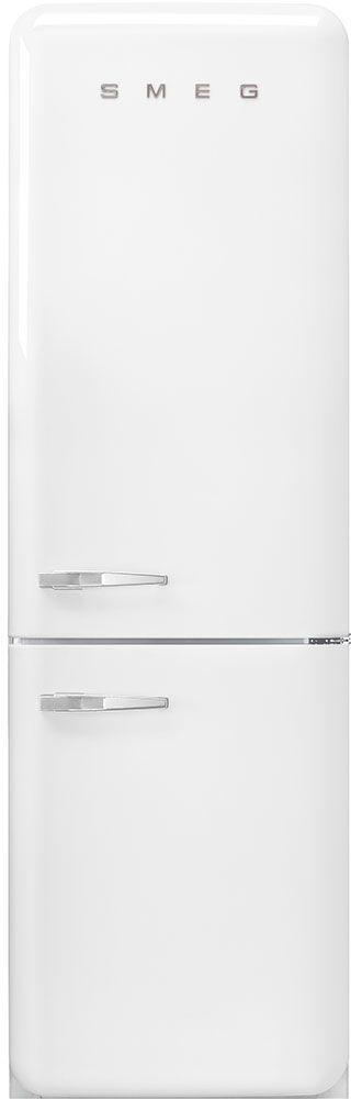 Smeg 50's Retro Style Aesthetic 11.69 Cu. Ft. White Bottom Freezer Refrigerator-FAB32URWH3