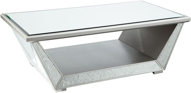 Signature Design by Ashley® Fanmory Silver Rectangular Cocktail Table-T910-1