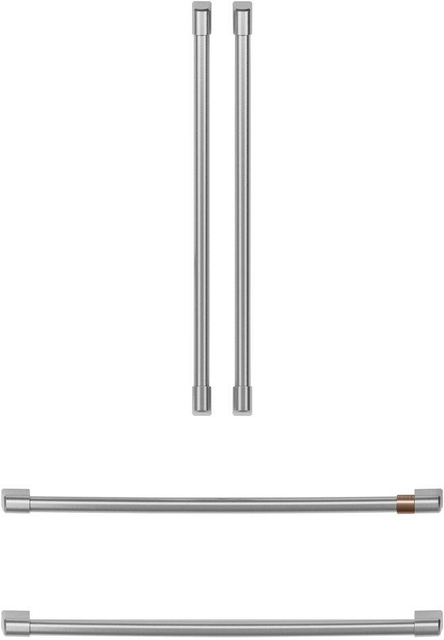 Café™ Brushed Stainless Refrigeration Handle Kit-CXQB4H4PNSS