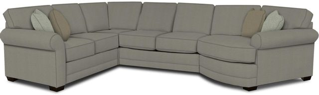 England Furniture Co. Brantley 4 Piece Culpepper Cement/Alvarado Mineral/Vivid Aegean Sectional-5630-28-22-43-95+8612+8819+8601
