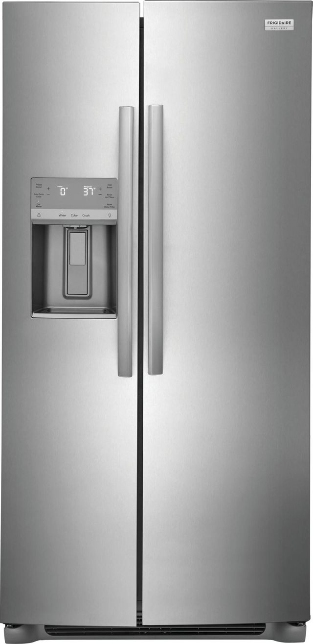 Frigidaire Gallery® 22.2 Cu. Ft. Stainless Steel Counter Depth Side-by-Side Refrigerator-GRSC2352AF