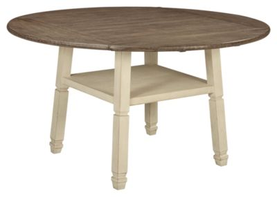 Signature Design by Ashley® Bolanburg Two-Tone Round Drop Leaf Counter Table-D647-13