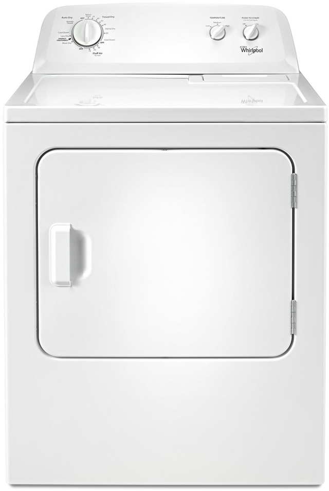 Whirlpool® Top Load Gas Dryer-White. Special Buy, Limited to Stock On Hand-WGD4616FW