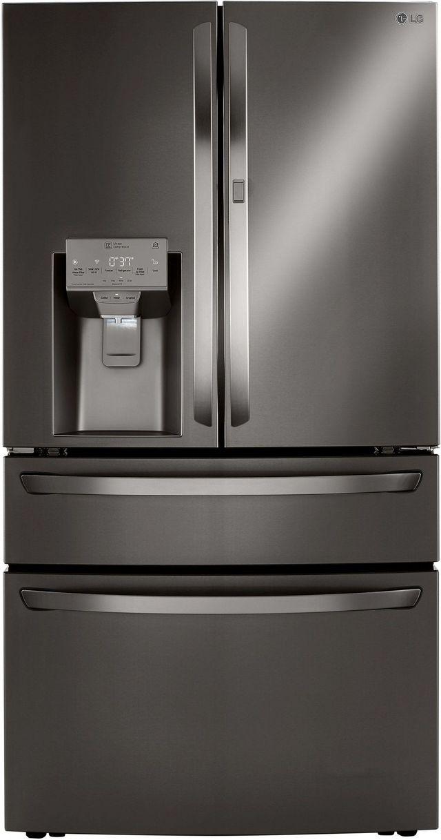 LG 29.5 Cu. Ft. PrintProof™ Black Stainless Steel Smart Wi-Fi Enabled French Door Refrigerator-LRMDS3006D