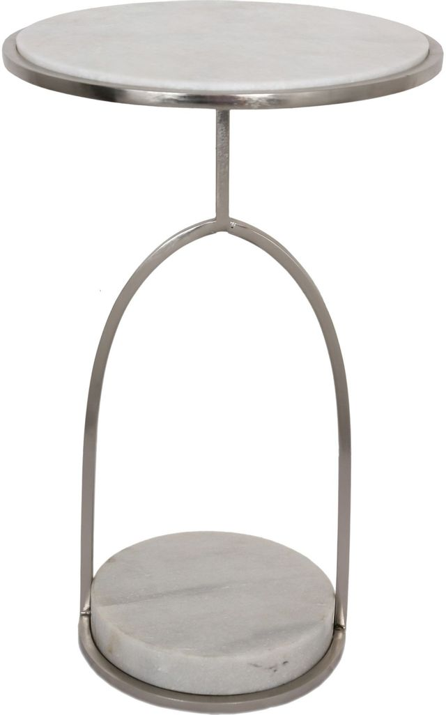 Table d'appoint ronde Hadley, blanc, Renwil®-TA360