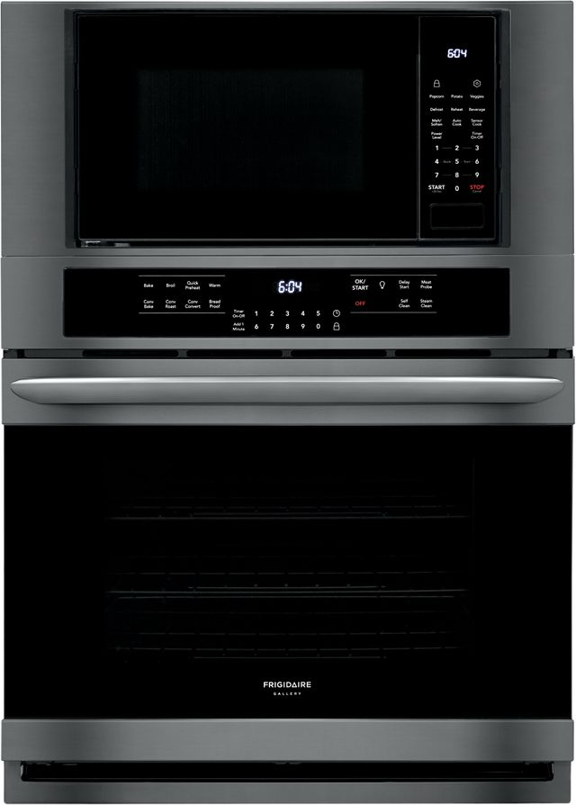 """Frigidaire Gallery® 30"""" Black Stainless Steel Electric Oven/Micro Combo Built In-FGMC3066UD"""