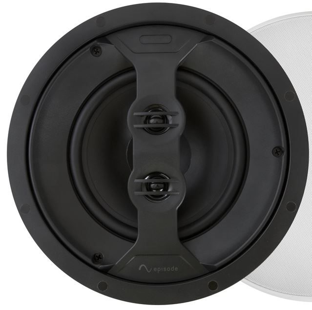 """SnapAV Episode® 350 Series 6.5"""" All-Weather In-Ceiling Dual Voice Coil Speaker-Black-ES-AW350T-ICDVC-6"""