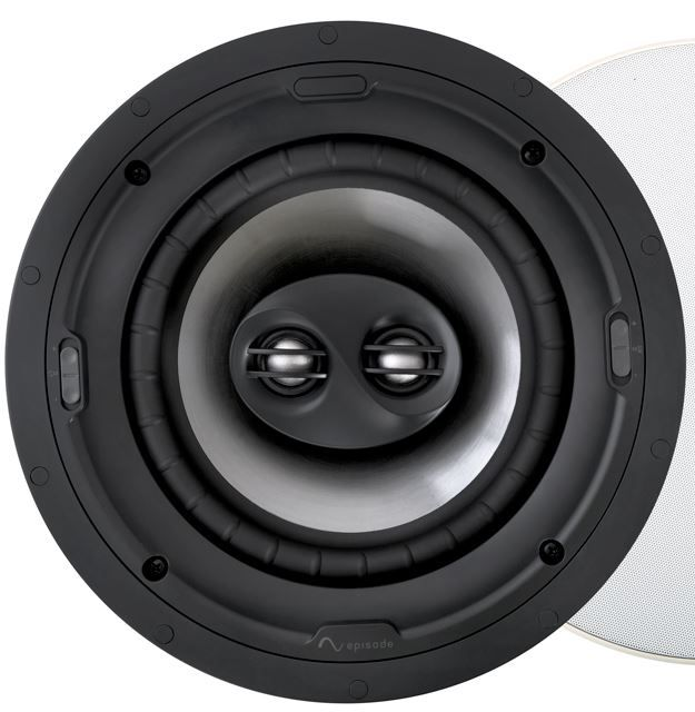 "SnapAV Episode® Signature 1500 Series 8"" In-Ceiling Dual Voice Coil Speaker-Black-ESS-1500T-ICDVC-8"